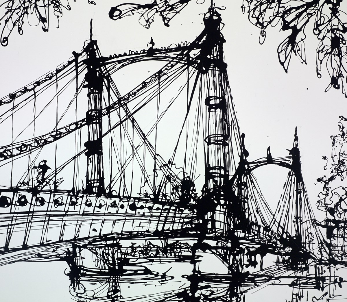 The Albert Bridge by ingo -  sized 24x20 inches. Available from Whitewall Galleries